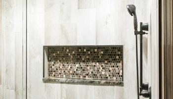 Built In Bath Shelving