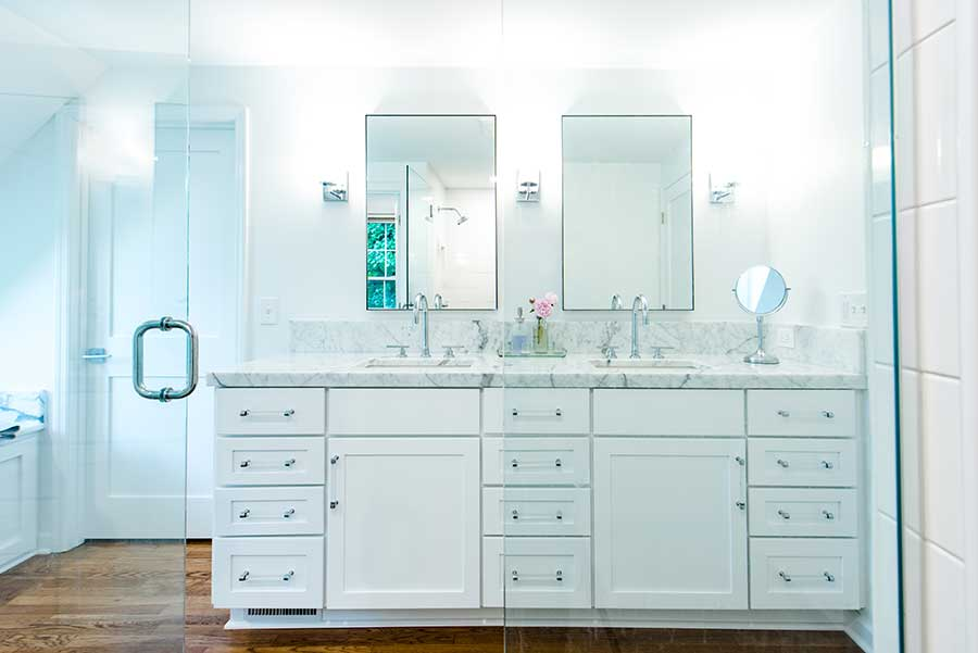 After - Interior - Bathroom Vanity with Marble Countertop