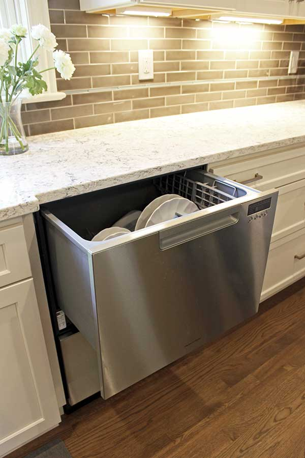 After - Double Dish Drawer Dishwasher