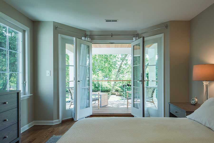 After - Interior - French Doors in Master Bedroom Open to Balcony