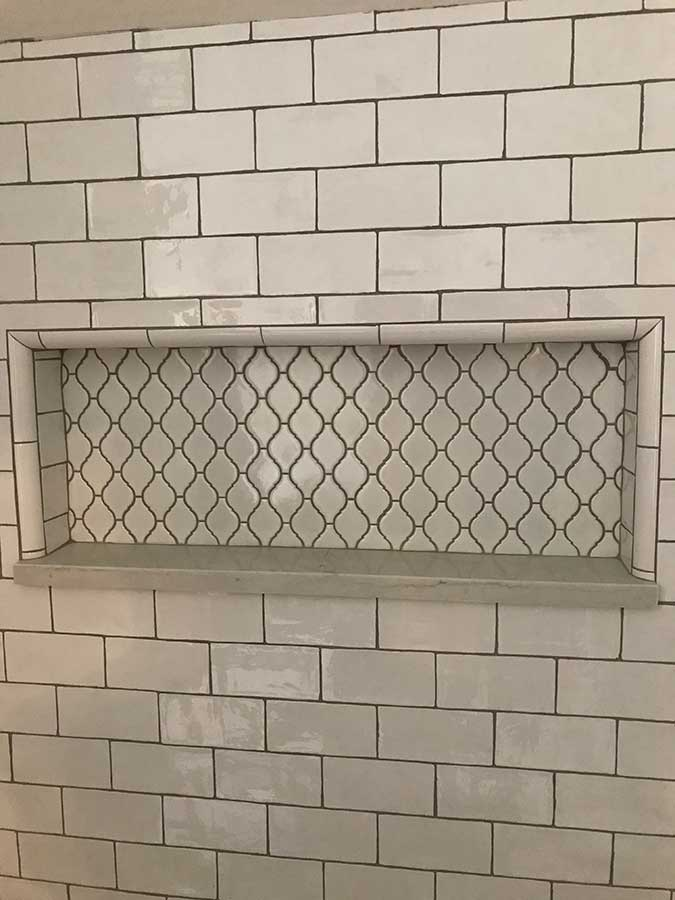 After - Intricate Tile Pattern In Shower Niche
