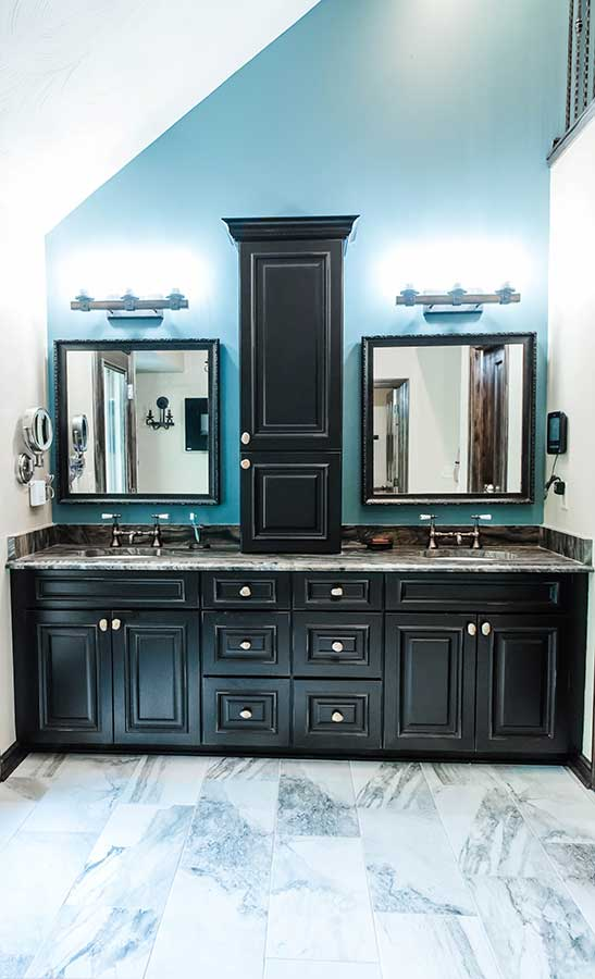 After - Updated Master Bath Vanity with Double Sinks