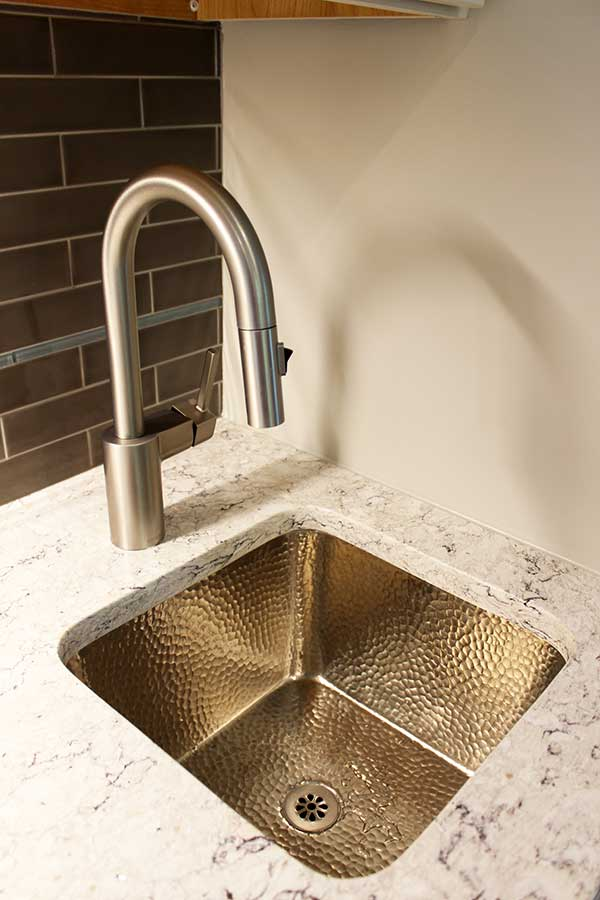 After - New Hammered Nickel Bar Sink