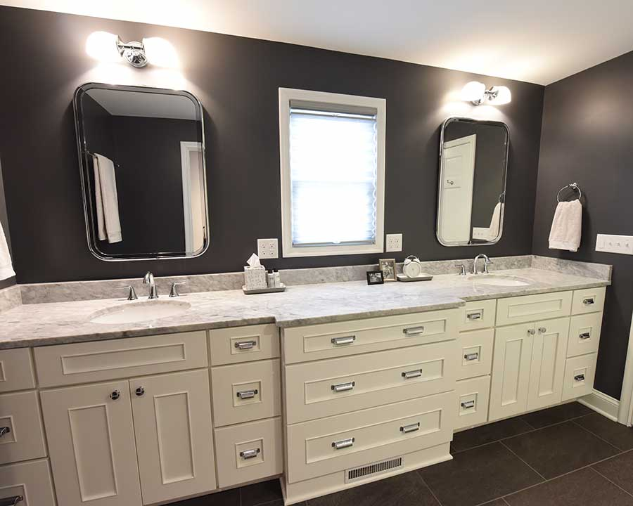 After - New Master Bath - Spacious Double Vanity
