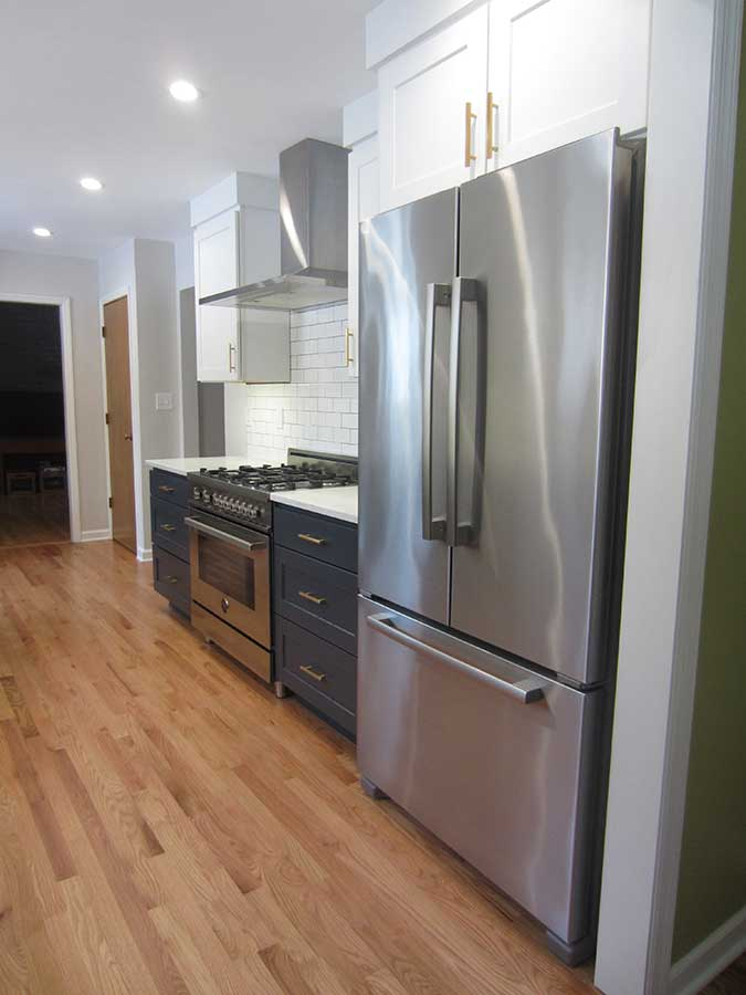 After - New Range, Hood and Refrigerator