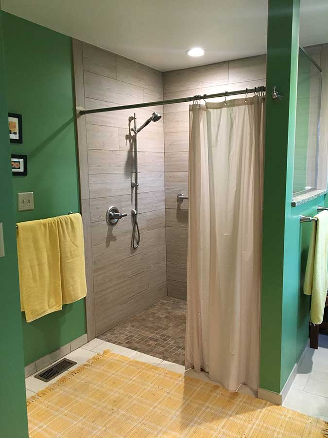 After - No Threshold Walk-In Shower