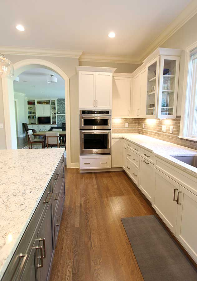 After - Updated Kitchen with Quartz Countertops & Elongated Subway Tile Backsplash