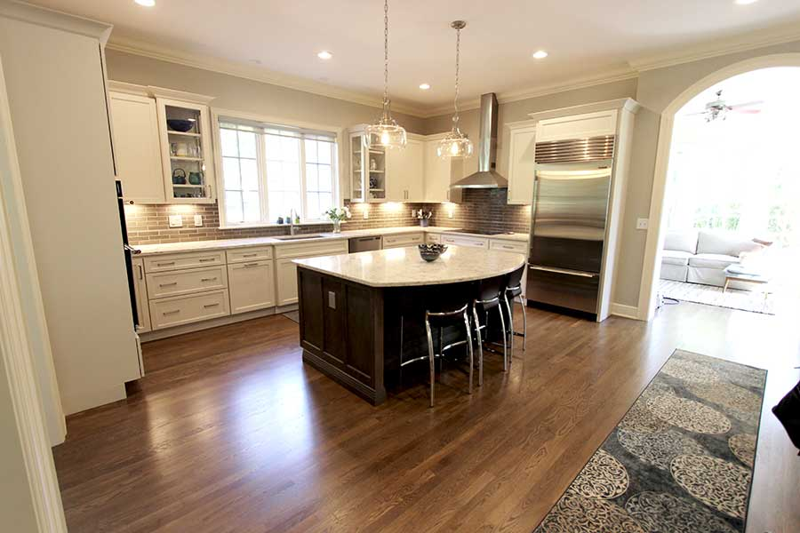 After - Updated Kitchen with Refinished Hardwood Floors