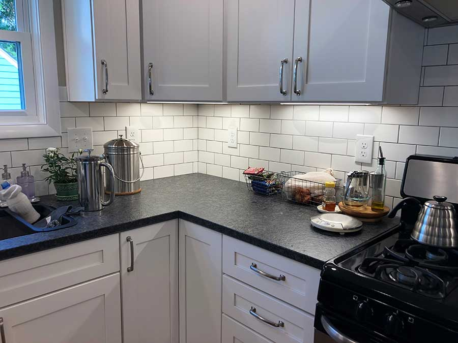 After - Subway Tile Backsplash