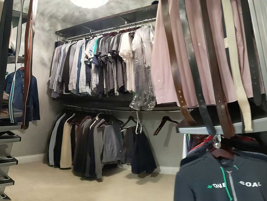 After - Updated Master Closet