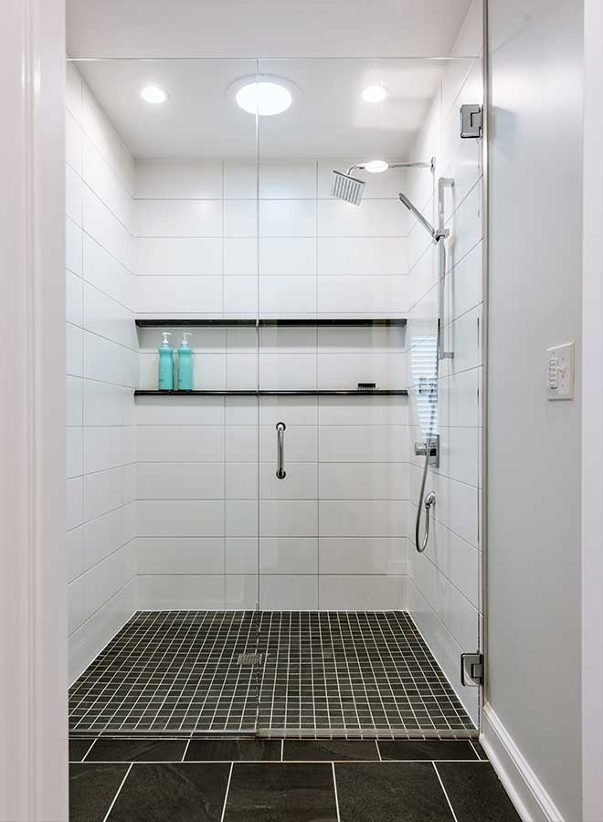 After - Updated Shower with No Threshold Entry