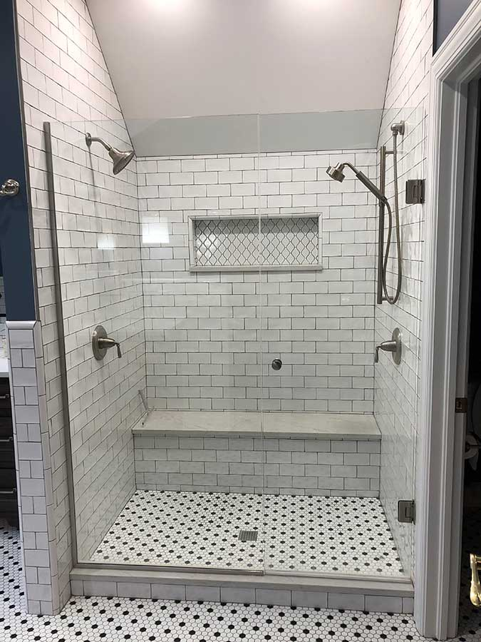 After - Updated Tile Shower