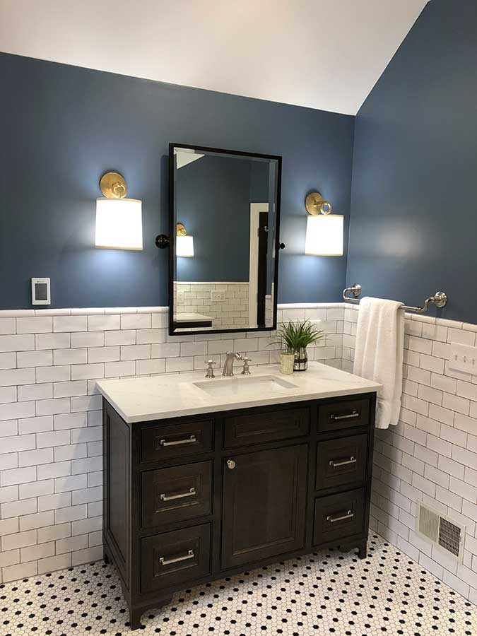 After - Updated Vanity, Mirror & Sconce Lighting