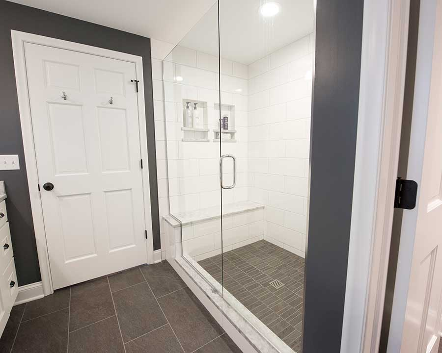 After - New Master Bath - Walk-in Shower with Bench