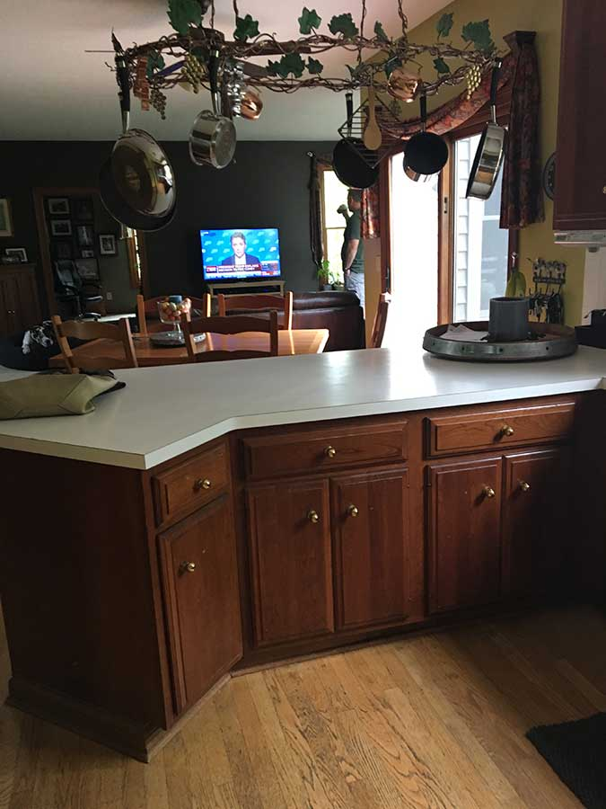 Before Kitchen Cabinet Upgrades
