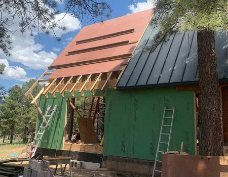 Exterior Metal Roof Installation