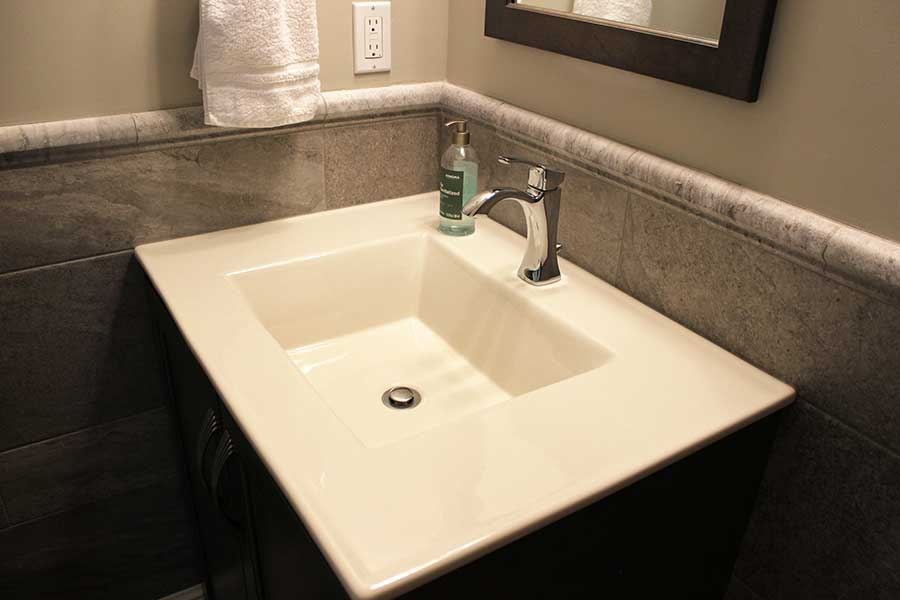 Kohler Integrated Vanity Top Installation